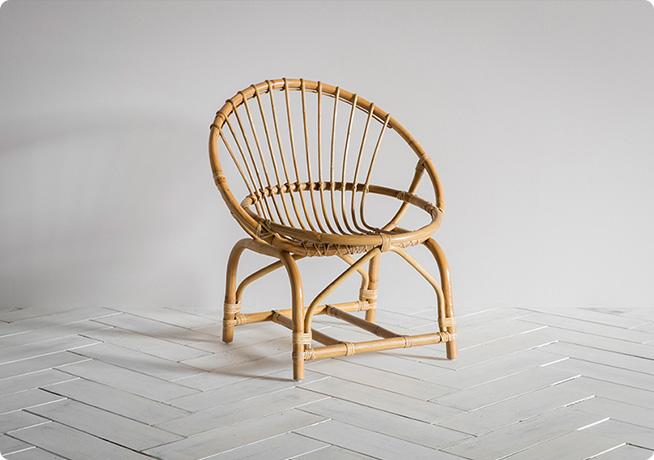 Constanza wicker woven wood armchair by Perch & Parrow