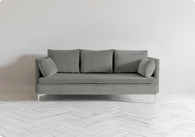 Paul 3 seater sofa in Cotswold Slate by Perch & Parrow - from £1170