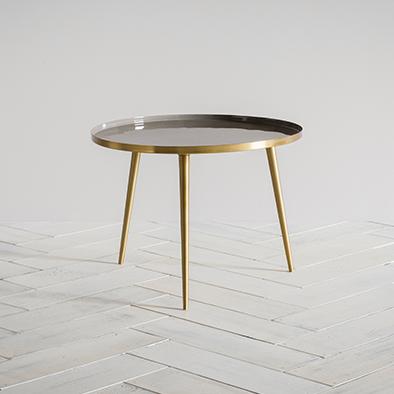 Rochelle Side Table in Grey -L