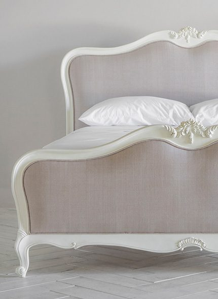 White and pink Opera bed by Perch & Parrow by Perch & Parrow