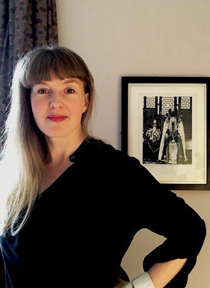 portrait of Ali Brown interior designer in black top