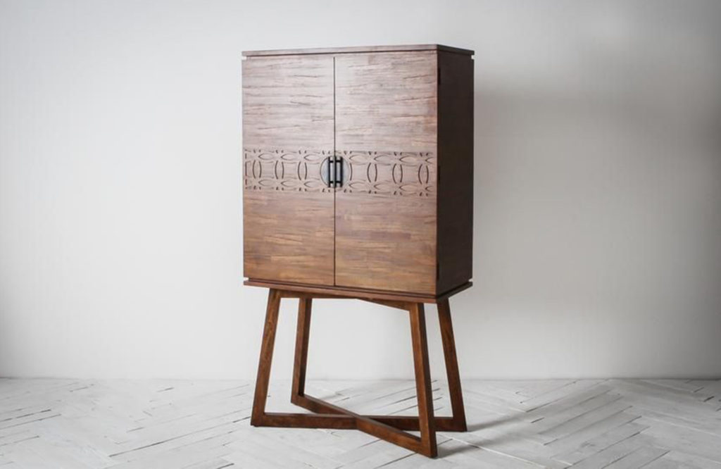 The Sadie Drinks Cabinet in Natural is the ultimate showstopper.