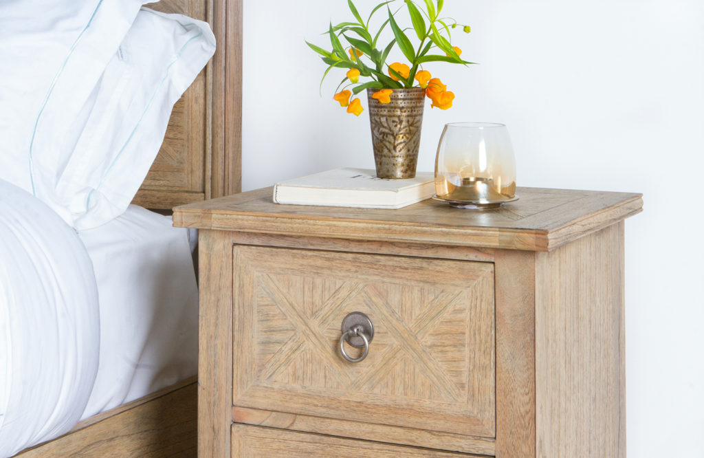 Spring blossoms, combined with light woods and natural finishes, are the perfect way of adding a cheerful, earthy note to your living space.