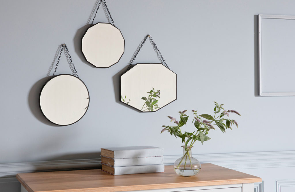Dress your walls with mirrors like the Sylvie and their beautiful reflections. Mix and match shapes to maximise impact.