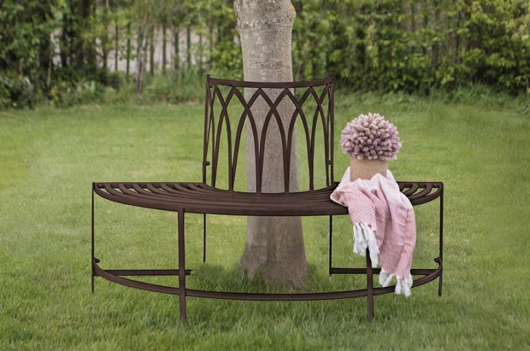 Thyme Outdoor Bench in Brown