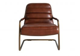 Perch Amp Parrow Kobalt Leather Lounge Chair In Light Brown