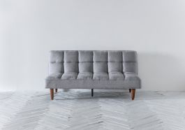 Nina Click Clack Sofa Bed In Putty Grey