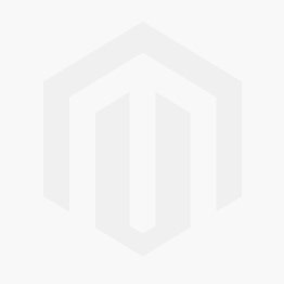 Garnet LED ribbed globe shaped bulb with amber glass