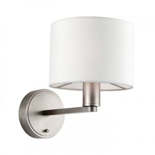 Jonah Nickel Wall Lamp with Silk Shade