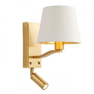Tristan Golden Wall Lamp with Focus Light