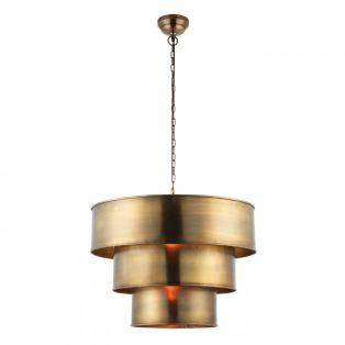 Octavia Antique Brass Pendant, Large