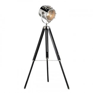 Cora Retro Tripod Floor Lamp in Nickel