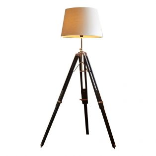 Morgan Tripod Floor Lamp & Linen Shade