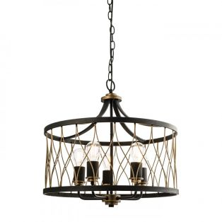 Clark Chandelier in Antique Gold