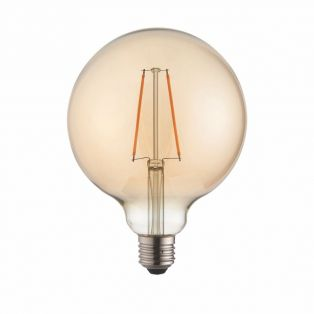 Ana LED globe shaped bulb with amber glass