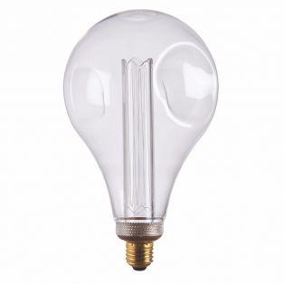 Ana Large LED dimpled globe shaped bulb with clear glass