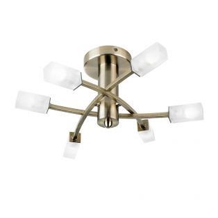 Addie Brass Ceiling Light, Large