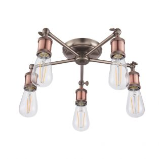 Anker Aged Pewter Ceiling Light, Large