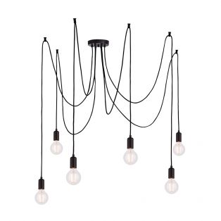 Deo 6 Light Mulit-Pendant in Matte Black