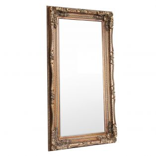 Victoria Standing Mirror in Gold