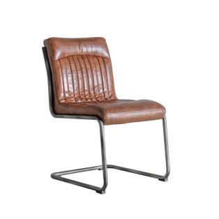 Nancy Vintage Leather Chair in Brown