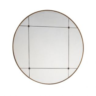Ayla Round Mirror in Harvest Bronze