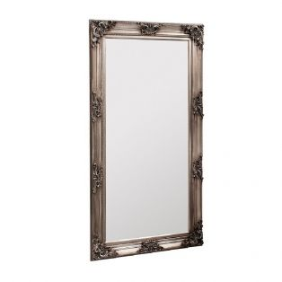 Antoine Standing Mirror in Old Silver