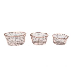Doris Metal Storage Basket Set