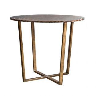 Chloe Emperador Marble Dining Table