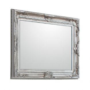 Harlow Wall Mirror in Antique Silver