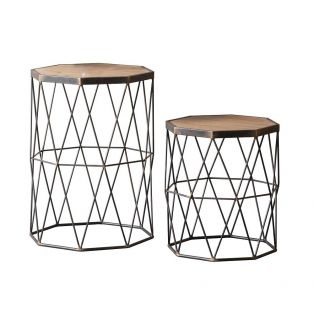 Cardinal Side Table, Set of Two