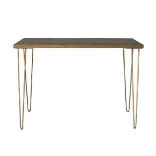 Isaac Console Table in Honey Gold