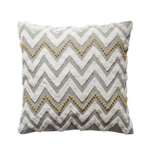 Mayorca Embroidered Cushion in Ochre