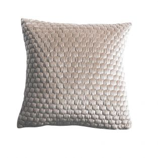 Beehive Velvet Cushion in Taupe