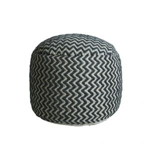 Jordan Pouffe in Slate Grey