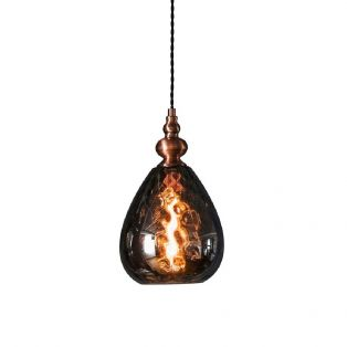 Boston Glass Ceiling Pendant in Bronze