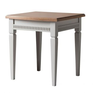 Sienna Side Table in Ice Grey