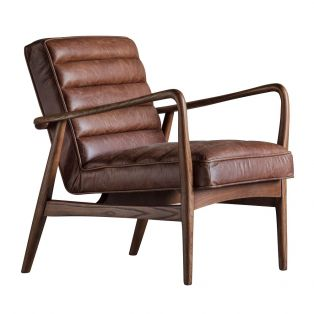 Scott Armchair in Cognac Brown