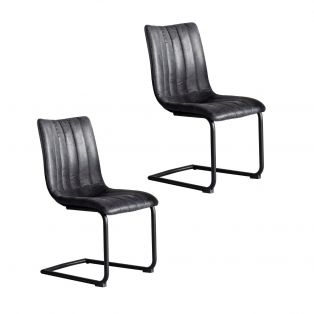 Coll Dining Chair in Anthracite, Set of two
