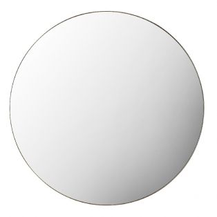 Jonet Round Mirror in Champagne