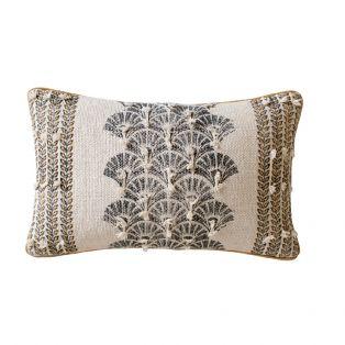 Izzie Embroidered Cotton Cushion