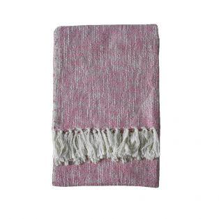 Pax Cotton Throw in Amaranth Pink