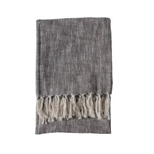 Pax Cotton Throw in Anthracite Grey