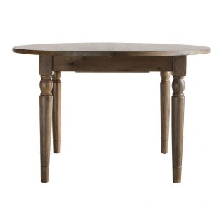 Cooper Oak Round Extendable Dining Table in Natural