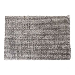 Olive Handwoven Rug in Silver & Grey