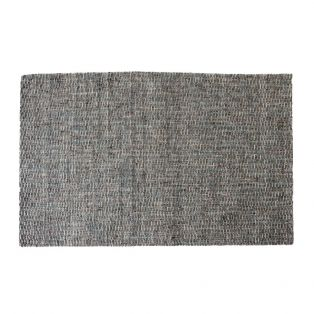 Olive Handwoven Rug in Stone & Teal