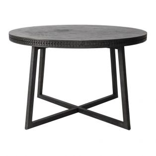 Sadie Round Dining Table in Charcoal