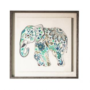 Molly Embroidered Framed Wall Art