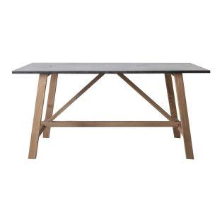 Alec Oak Grey Top Dining Table