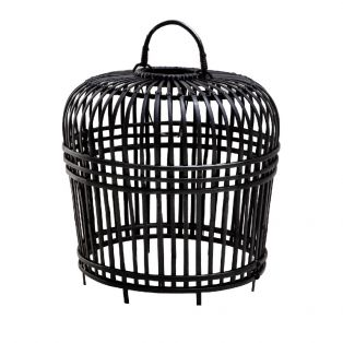 India Rattan Lampshade in Black